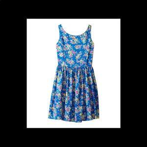 Polo Ralph Lauren Girls blue floral dress